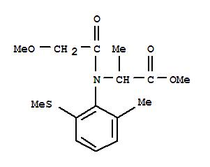 124482-53-7,Alanine,N-(methoxyacetyl)-N-[2-methyl-6-(methylthio)phenyl]-, methyl ester (9CI),DL-Alanine,N-(methoxyacetyl)-N-[2-methyl-6-(methylthio)phenyl]-, methyl ester