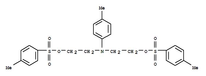 15314-38-2,Ethanol,2,2'-[(4-methylphenyl)imino]bis-, bis(4-methylbenzenesulfonate) (ester) (9CI),Ethanol,2,2'-(p-tolylimino)di-, di-p-toluenesulfonate (ester) (8CI); N-(4-Methylphenyl)diethanolamineditosylate; NSC 82273
