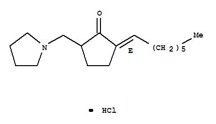 162190-88-7,Cyclopentanone,2-heptylidene-5-(1-pyrrolidinylmethyl)-, hydrochloride, (E)- (9CI),NSC 639979