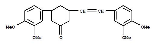 16831-33-7,2-Cyclohexen-1-one,5-(3,4-dimethoxyphenyl)-3-[2-(3,4-dimethoxyphenyl)ethenyl]-,2-Cyclohexen-1-one,5-(3,4-dimethoxyphenyl)-3-(3,4-dimethoxystyryl)- (8CI); NSC 206116