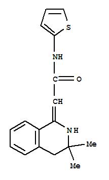 170658-17-0,Acetamide,2-(3,4-dihydro-3,3-dimethyl-1(2H)-isoquinolinylidene)-N-2-thienyl-,