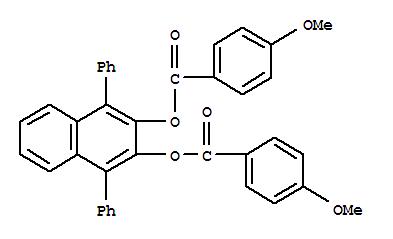22837-69-0,p-Anisic acid,1,4-diphenyl-2,3-naphthylene ester (8CI),2,3-Naphthalenediol,1,4-diphenyl-, di-p-anisate (8CI); NSC 136142