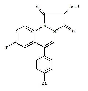 31720-37-3,1H-Pyrazolo[1,2-a]cinnoline-1,3(2H)-dione,6-(4-chlorophenyl)-8-fluoro-2-(2-methylpropyl)-,1H-Pyrazolo[1,2-a]cinnoline-1,3(2H)-dione,6-(p-chlorophenyl)-8-fluoro-2-isobutyl- (8CI); Scha 971