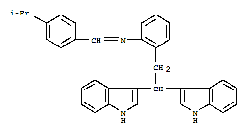 35150-42-6,Benzenamine,2-(2,2-di-1H-indol-3-ylethyl)-N-[[4-(1-methylethyl)phenyl]methylene]-,AG 8; AG 8(antioxidant)