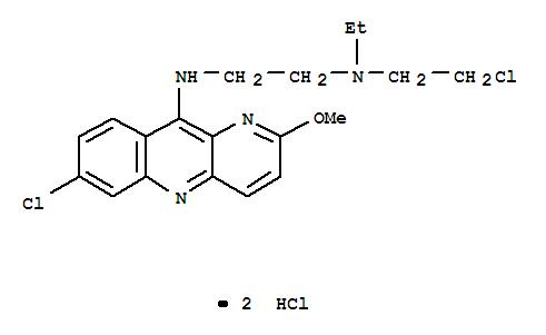 38915-27-4,1,2-Ethanediamine,N1-(2-chloroethyl)-N2-(7-chloro-2-methoxybenzo[b]-1,5-naphthyridin-10-yl)-N1-ethyl-,hydrochloride (1:2),1,2-Ethanediamine,N-(2-chloroethyl)-N'-(7-chloro-2-methoxybenzo[b]-1,5-naphthyridin-10-yl)-N-ethyl-,dihydrochloride (9CI); Benzo[b]-1,5-naphthyridine, 1,2-ethanediamine deriv.