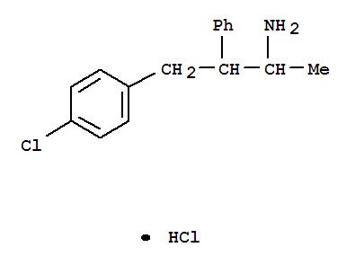4814-11-3,Benzenepropanamine,4-chloro-a-methyl-b-phenyl-, hydrochloride (1:1),Benzenepropanamine,4-chloro-a-methyl-b-phenyl-, hydrochloride (9CI);Phenethylamine, b-(p-chlorobenzyl)-a-methyl-, hydrochloride(7CI,8CI);N-[3-(4-Chlorophenyl)-2-phenyl-1-methylpropyl]amine hydrochloride;NSC 17144;NSC 18790;