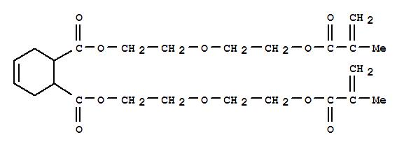 Molecular Structure of 54736-56-0 (4-Cyclohexene-1,2-dicarboxylicacid, 1,2-bis[2-[2-[(2-methyl-1-oxo-2-propen-1-yl)oxy]ethoxy]ethyl] ester)