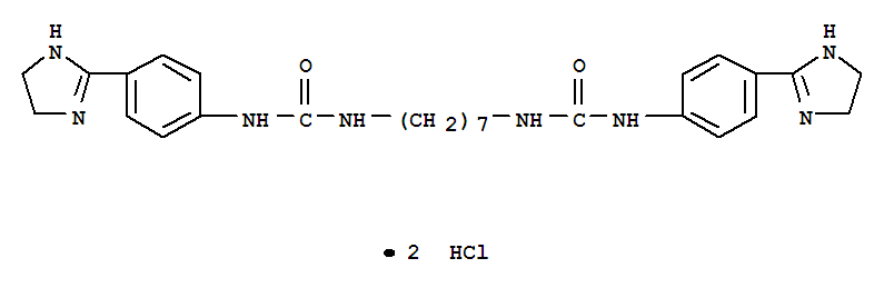 5726-62-5,Urea,1,1'-heptamethylenebis[3-(p-2-imidazolin-2-ylphenyl)-, dihydrochloride(7CI,8CI),