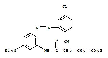 62163-33-1,Butanoic acid,4-[[2-[2-(5-chloro-2-cyanophenyl)diazenyl]-5-(diethylamino)phenyl]amino]-4-oxo-,Butanoicacid, 4-[[2-[(5-chloro-2-cyanophenyl)azo]-5-(diethylamino)phenyl]amino]-4-oxo-(9CI)