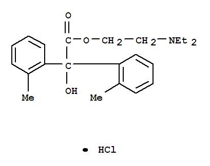 6636-66-4,Benzilic acid,2,2'-dimethyl-, 2-(diethylamino)ethyl ester, hydrochloride (8CI),o-Tolilicacid, 2-diethylaminoethyl ester, hydrochloride (6CI); NSC 121448; NSC 18208