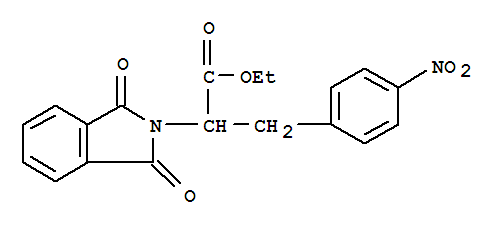 6957-95-5,2H-Isoindole-2-aceticacid, 1,3-dihydro-a-[(4-nitrophenyl)methyl]-1,3-dioxo-, ethyl ester,2-Isoindolineaceticacid, a-(p-nitrobenzyl)-1,3-dioxo-,ethyl ester (6CI,7CI); NSC 19761