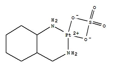 69651-38-3,Platinum,(2-aminocyclohexanemethanamine-N,N')[sulfato(2-)-O,O']-, [SP-4-3-(1S-trans)]-(9CI),Cyclohexanemethanamine,2-amino-, platinum complex, (1S-trans)-; Sulfuric acid, platinum complex; NSC302549