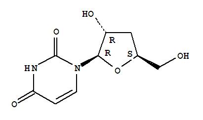 Molecular Structure of 7057-27-4 (Uridine, 3'-deoxy-)