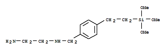 Molecular Structure of 75822-22-9 (1,2-Ethanediamine,N1-[[4-[2-(trimethoxysilyl)ethyl]phenyl]methyl]-)