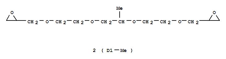 Molecular Structure of 80440-82-0 (Oxirane,2,2'-(6,?,?-trimethyl-2,5,8,11-tetraoxadodecane-1,12-diyl)bis- (9CI))