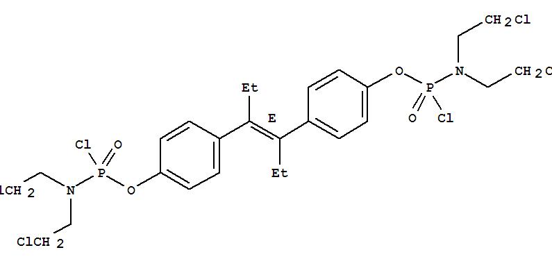 88181-16-2,Phosphoramidochloridicacid, bis(2-chloroethyl)-, (1,2-diethyl-1,2-ethenediyl)di-4,1-phenylene ester,(E)- (9CI),NSC 352276