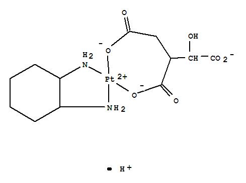 88483-99-2,Platinate(1-),[3-(carboxy-kO)-2,3-dideoxypentarato(3-)-kO1](1,2-cyclohexanediamine-kN,kN')-, hydrogen, (SP-4-3)- (9CI),Platinate(1-),(1,2-cyclohexanediamine-N,N')[1-hydroxy-1,2,3-propanetricarboxylato(3-)-O2,O3]-,hydrogen, (SP-4-3)-; 1,2,3-Propanetricarboxylic acid, 1-hydroxy-, platinumcomplex; 1,2-Cyclohexanediamine, platinum complex; NSC 350602