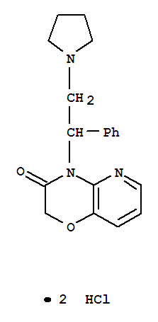 88809-63-6,2H-Pyrido[3,2-b]-1,4-oxazin-3(4H)-one,4-[1-phenyl-2-(1-pyrrolidinyl)ethyl]-, hydrochloride (1:2),2H-Pyrido[3,2-b]-1,4-oxazin-3(4H)-one,4-[1-phenyl-2-(1-pyrrolidinyl)ethyl]-, dihydrochloride (9CI)