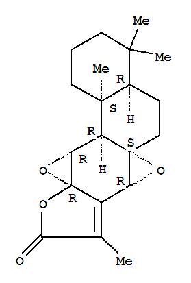 97906-89-3,Bisoxireno[1,10a:3,4]phenanthro[3,2-b]furan-9(7aH)-one,1,2,3,4,4a,5,6,11a,11b,11c-decahydro-4,4,8,11c-tetramethyl-,(4aR,6aS,7aR,10aR,11aR,11bR,11cS)-,Bisoxireno[1,10a:3,4]phenanthro[3,2-b]furan-9(7aH)-one,1,2,3,4,4a,5,6,11a,11b,11c-decahydro-4,4,8,11c-tetramethyl-, [4aR-(4aa,6aS*,7ab,10aR*,11ab,11ba,11ca)]-; (+)-Pseudojolkinolide B; Pseudojolkinolide B