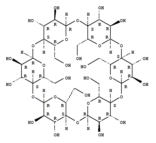 Molecular Structure of 10016-20-3 (Cyclohexapentylose)