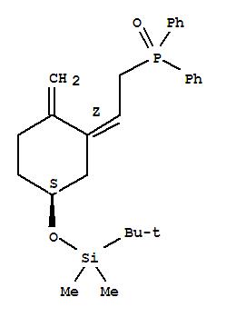 Molecular Structure of 100858-27-3 (Phosphine oxide,[(2Z)-2-[(5S)-5-[[(1,1-dimethylethyl)dimethylsilyl]oxy]-2-methylenecyclohexylidene]ethyl]diphenyl-)