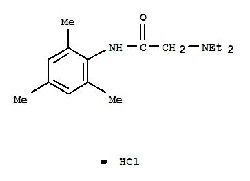 Molecular Structure of 1027-14-1 (Acetamide,2-(diethylamino)-N-(2,4,6-trimethylphenyl)-, hydrochloride (1:1))