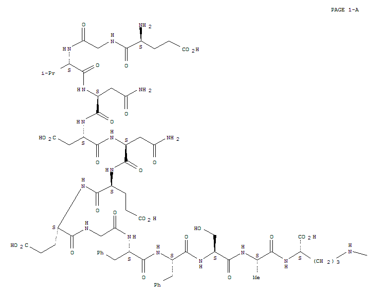 Molecular Structure of 103213-49-6 (Fibrinopeptide B(human), 1-L-glutamic acid- (9CI))
