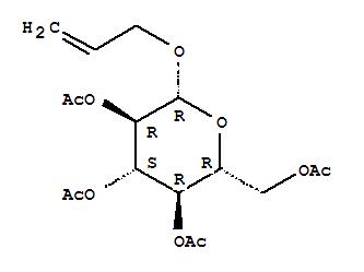 Molecular Structure of 10343-15-4 (b-D-Glucopyranoside,2-propen-1-yl, 2,3,4,6-tetraacetate)