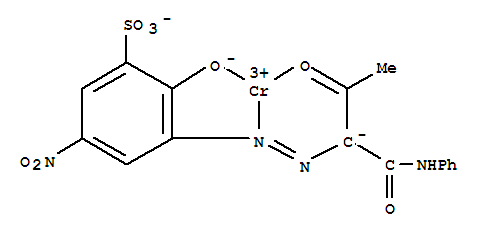 Molecular Structure of 10343-55-2 (Chromium, [2-(hydroxy-kO)-5-nitro-3-[2-[2-(oxo-kO)-1-[(phenylamino)carbonyl]propyl]diazenyl-kN1]benzenesulfonato(3-)]-)