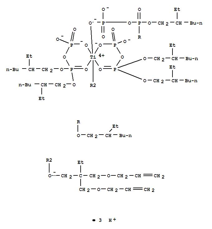 bis(2-ethylhexyl) phosphono phosphate,2,2-bis(prop-2-enoxymethyl)butan-1-ol,hydron,titanium