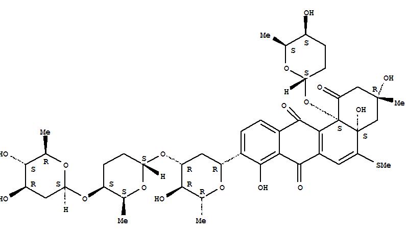 104542-47-4,Benz[a]anthracene-1,7,12(2H)-trione,9-[2,6-dideoxy-3-O-[(2S,5S,6S)-5-[(2,6-dideoxy-b-D-arabino-hexopyranosyl)oxy]tetrahydro-6-methyl-2H-pyran-2-yl]-b-D-arabino-hexopyranosyl]-3,4,4a,12b-tetrahydro-3,4a,8-trihydroxy-3-methyl-5-(methylthio)-12b-[[(2S,5S,6S)-tetrahydro-5-hydroxy-6-methyl-2H-pyran-2-yl]oxy]-,(3R,4aS,12bS)-,Benz[a]anthracene-1,7,12(2H)-trione,9-[2,6-dideoxy-3-O-[[2S-(2a,5b,6b)]-5-[(2,6-dideoxy-b-D-arabino-hexopyranosyl)oxy]tetrahydro-6-methyl-2H-pyran-2-yl]-b-D-arabino-hexopyranosyl]-3,4,4a,12b-tetrahydro-3,4a,8-trihydroxy-3-methyl-5-(methylthio)-12b-[(tetrahydro-5-hydroxy-6-methyl-2H-pyran-2-yl)oxy]-,[3R-[3a,4aa,12ba(2S*,5S*,6S*)]]-; Urdamycin E