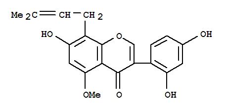104703-88-0,4H-1-Benzopyran-4-one,3-(2,4-dihydroxyphenyl)-7-hydroxy-5-methoxy-8-(3-methyl-2-buten-1-yl)-,4H-1-Benzopyran-4-one,3-(2,4-dihydroxyphenyl)-7-hydroxy-5-methoxy-8-(3-methyl-2-butenyl)- (9CI);Barpisoflavone B