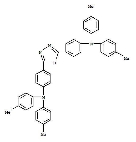 Molecular Structure of 104989-09-5 (Benzenamine,4,4'-(1,3,4-oxadiazole-2,5-diyl)bis[N,N-bis(4-methylphenyl)-)