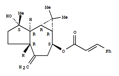 107812-57-7,2-Propenoic acid,3-phenyl-,decahydro-7-hydroxy-1,1,7-trimethyl-4-methylene-1H-cycloprop[e]azulen-2-ylester, [1aR-(1aa,2a,4aa,7b,7ab,7ba)]- (9CI),1H-Cycloprop[e]azulene,2-propenoic acid deriv.; Guayulin C