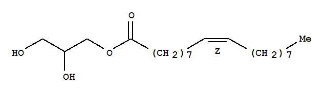 111-03-5,9-Octadecenoic acid(9Z)-, 2,3-dihydroxypropyl ester,9-Octadecenoicacid (Z)-, 2,3-dihydroxypropyl ester;Olein, 1-mono- (8CI);1-Glyceryl oleate;1-Mono(cis-9-octacenoyl)glycerol;1-Monoolein;1-Monooleoyl-rac-glycerol;1-Monooleoylglycerol;1-Oleoylglycerol;1-Oleylglycerol;2,3-Dihydroxypropyloleate;Danisco MO 90;Dimodan MO 90;Dimodan MO 90D;Glycerin 1-monooleate;Glycerol 1-monooleate;Glycerol 1-oleate;Glycerol a-cis-9-octadecenate;Glycerol a-monooleate;Glyceryl monooleate;Rylo MG 19;rac-1-Monoolein;rac-1-Monooleoylglycerol;a-Monoolein;