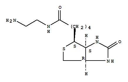 Molecular Structure of 111790-37-5 (1H-Thieno[3,4-d]imidazole-4-pentanamide,N-(2-aminoethyl)hexahydro-2-oxo-, (3aS,4S,6aR)-)