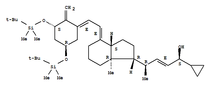 Molecular Structure of 112849-27-1 (Bis-TBDMS-trans-calcipotriol)