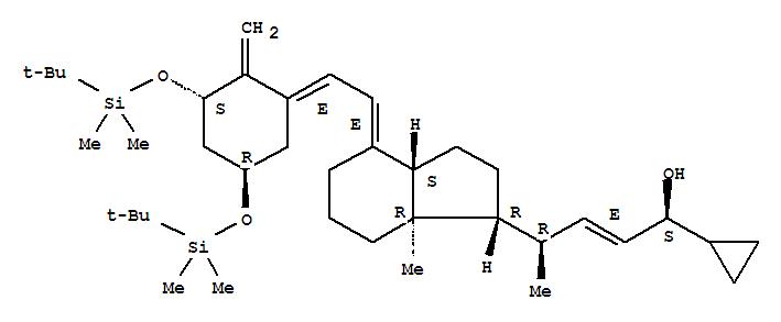 Molecular Structure of 112849-27-1 (Bis-TBDMS-trans-calcipotriol)