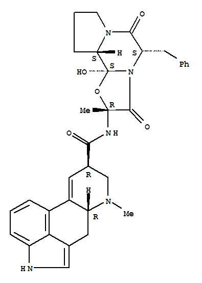 Molecular Structure of 113-15-5 (Ergotaman-3',6',18-trione,12'-hydroxy-2'-methyl-5'-(phenylmethyl)-, (5'a)-)