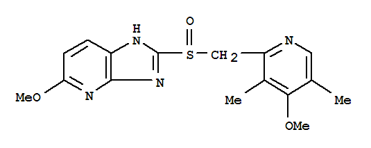 113712-98-4,Tenatoprazole,1H-Imidazo[4,5-b]pyridine,5-methoxy-2-[[(4-methoxy-3,5-dimethyl-2-pyridinyl)methyl]sulfinyl]- (9CI);2-[2-((4-Methoxy-3,5-dimethyl-2-pyridinyl)methyl)sulfinyl]-5-methoxyimidazo[4,5-b]pyridine;5-Methoxy-2-[[(4-methoxy-3,5-dimethyl-2-pyridinyl)methyl]sulfinyl]-1H-imidazo[4,5-b]pyridine;TU 199;3H-Imidazo[4,5-b]pyridine,5-methoxy-2-[[(4-methoxy-3,5-dimethyl-2-pyridinyl)methyl]sulfinyl]-;