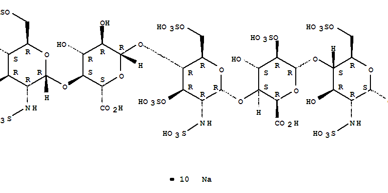 Molecular Structure of 114870-03-0 (Fondaparinux sodium)