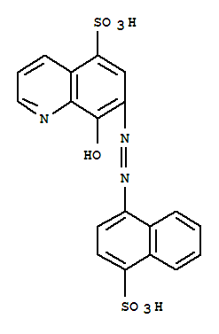 Molecular Structure of 117-87-3 (5-Quinolinesulfonicacid, 8-hydroxy-7-[2-(4-sulfo-1-naphthalenyl)diazenyl]-)