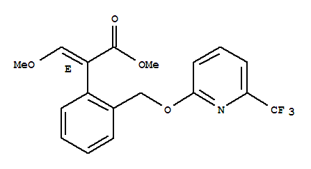 Benzeneacetic acid, a-(methoxymethylene)-2-[[[6-(trifluoromethyl)-2-pyridinyl]oxy]methyl]-,methyl ester, (aE)-