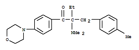 Molecular Structure of 119344-86-4 (1-Butanone,2-(dimethylamino)-2-[(4-methylphenyl)methyl]-1-[4-(4-morpholinyl)phenyl]-)