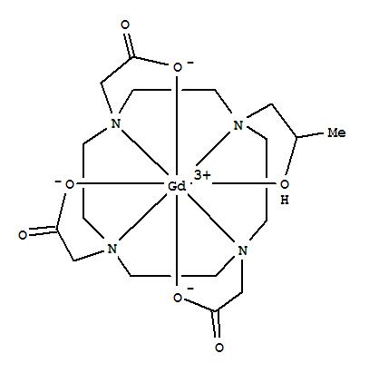 Molecular Structure of 120066-54-8 (Gadolinium,[10-[2-(hydroxy-kO)propyl]-1,4,7,10-tetraazacyclododecane-1,4,7-triacetato(3-)-kN1,kN4,kN7,kN10,kO1,kO4,kO7]-)