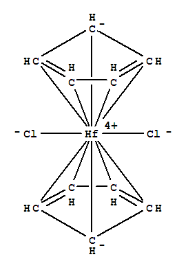CAS NO:12116-66-4 Hafnium, dichlorobis(h5-2,4-cyclopentadien-1-yl)- Molecular Structure