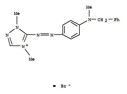 4H-1,2,4-Triazolium,1,4-dimethyl-5-[2-[4-[methyl(phenylmethyl)amino]phenyl]diazenyl]-, bromide(1:1) product picture