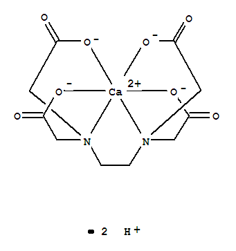 Molecular Structure of 12264-18-5 (Calciate(2-),[[N,N'-1,2-ethanediylbis[N-[(carboxy-kO)methyl]glycinato-kN,kO]](4-)]-, hydrogen (1:2), (OC-6-21)-)