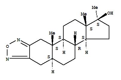 Molecular Structure of 1239-29-8 (Androstano[2,3-c][1,2,5]oxadiazol-17-ol,17-methyl-, (5a,17b)-)