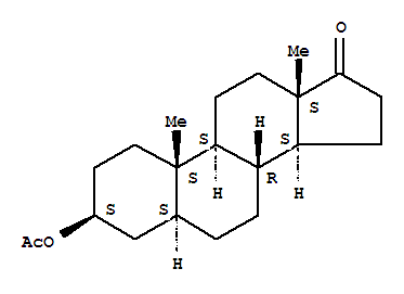 Molecular Structure of 1239-31-2 (Epiandrosterone acetate)